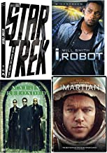 Mind-Freeing Sci-Fi Martian + Star Trek Special Edition & I, Robot & Matrix Reloaded 4 Movie Collection DVD Pack