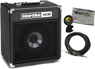 Hartke HD50 50 Watt 10'' Bass Combo w/Geartree Cloth, Cable, and Tuner