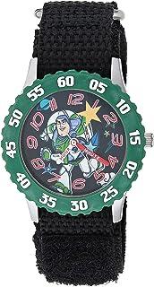 Disney - Reloj analógico de cuarzo con correa de nailon, color negro, 16 (modelo: WDS000858)