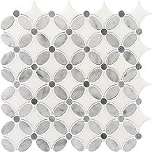 Carrara Louis Flower Marble Mosaic Tiles Polished