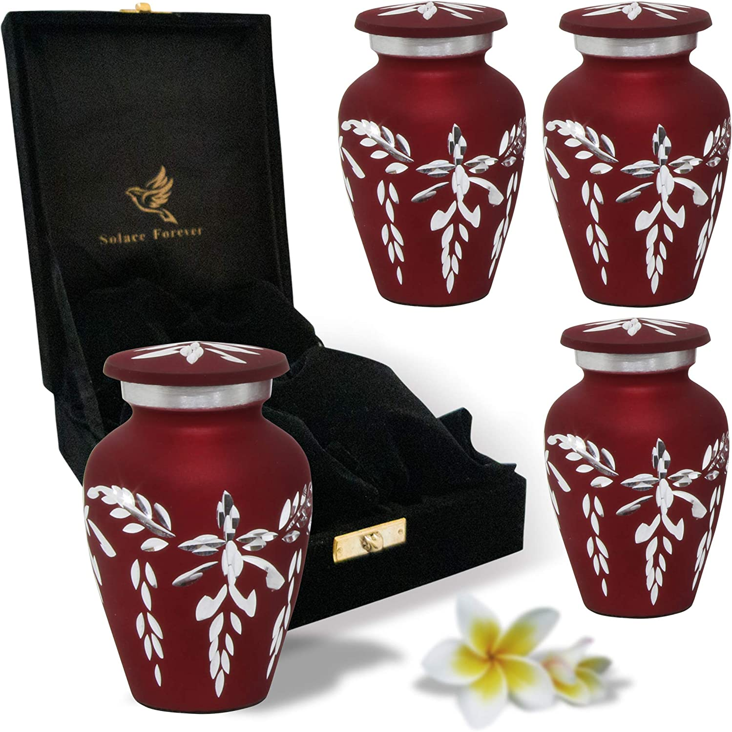 Mini Urns Red - Handcrafted 高級品 Human Keepsake Ashes for 35%OFF Small