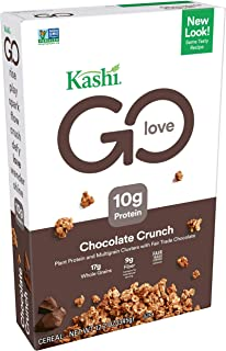 Kashi GO Chocolate Crunch Breakfast Cereal - Vegan, Non-GMO Project Verified, 12.2 Oz Box