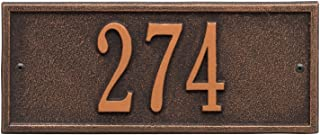 Whitehall Personalized Cast Metal Address Plaque - Small Hartford Custom House Number Sign - 10.5