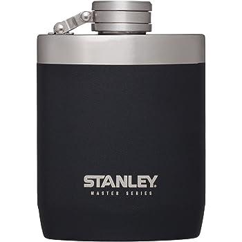 Stanley マスター 8オンス フラスク 広口 漏れ防止 ステンレススチール 8 oz ブラック