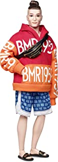 Barbie BMR1959 Ken Fully Poseable Fashion Doll with Bun, in Bold Logo Hoodie and Basketball Shorts, with Accessories and Doll Stand