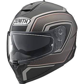 ヤマハ(YAMAHA) バイクヘルメット フルフェイス YF-9 ZENITH サンバイザーモデル スポーツストライプ グレー(つや消し) XLサイズ(61-62cm) 90791-1785X