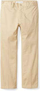 Amazon Essentials Uniform Straight-Fit Flat-Front Chino Khaki Pants Niños