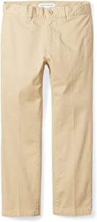 Amazon Essentials Boys' Straight Leg Flat Front Uniform Chino Pant Niños