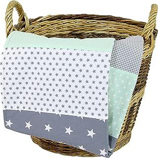 Colcha para bebé de ULLENBOOM ® con menta gris (manta de