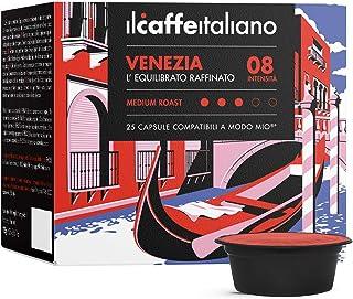 FRHOME - 100 Capsules de café compatibles Lavazza A modo mio - Café Mélange Venezia intensité 8 - Il Caffè Italiano