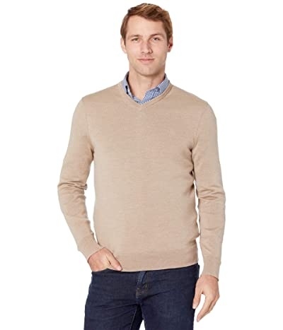 Calvin Klein Merino V-Neck Sweater (Travertine) Men