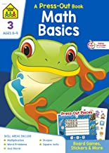 School Zone - Math Basics Press-Out Workbook - Ages 8 to 9, 3rd Grade, Manipulatives, Board Games, Multiplication, Word Pr...