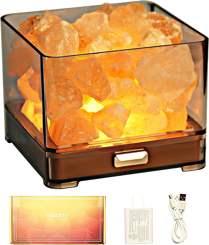 HISUNY Crystal Natural Salt Lamp El Louisville-Jefferson County Mall Paso Mall Mini Desk - Rock Himalayan