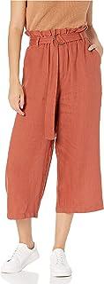 a Gamba Larga Tagliata Laurel Pantalone Culotte di Lino The Drop con Cintura Marchio