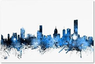 Melbourne Australia Skyline by Michael Tompsett, 12x19-Inch Canvas Wall Art