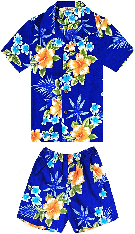 Boy Hawaiian Shirt or Popular product Cabana Blue Cheap Set Hibiscus in