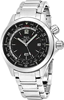 ساعت مچی مردانه DG2022A-S3A-BK 'Diver World Timer' Black Dial Stainless Steel Chronograph ساعت اتوماتیک سوییس