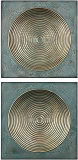 Uttermost Sybil Antique Gold Square 2-Piece Wall Art Set