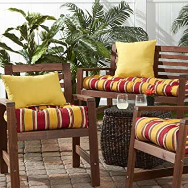 Greendale Home Fashions Set of 2 Outdoor 19x12-inch Rectangle Throw Pillows, Sunburst