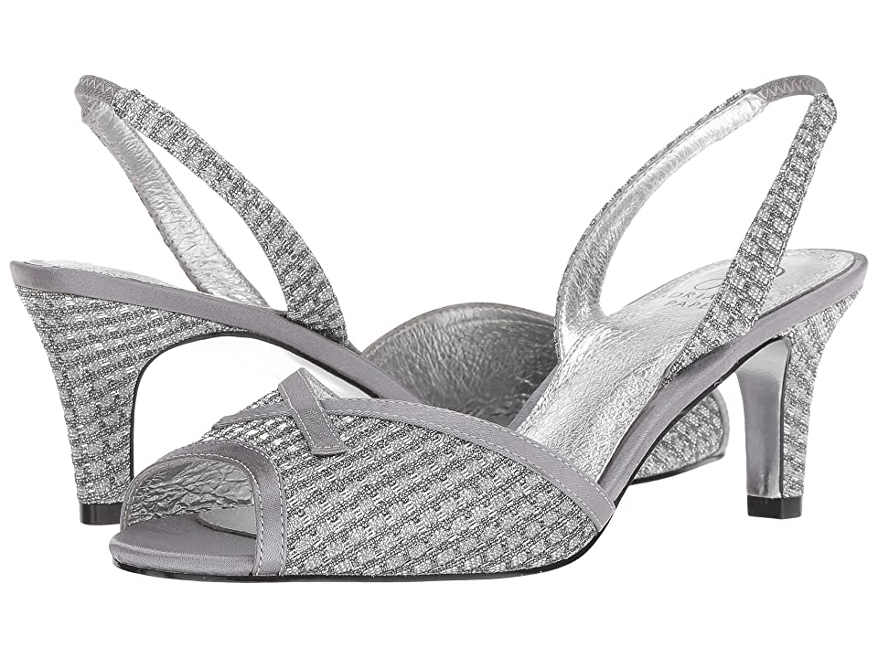 Adrianna Papell Jolene (Antique Silver Crystal Glitter) Women