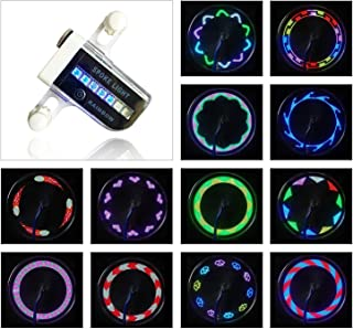 Bike Wheel Lights - Bicycle Wheel Lights Ultra Bright 14 LED - 30 Different Patterns Change Visible from All Angles - Safety Cool Bicycle Bike Accessories for Kids Adults - Easy to Install