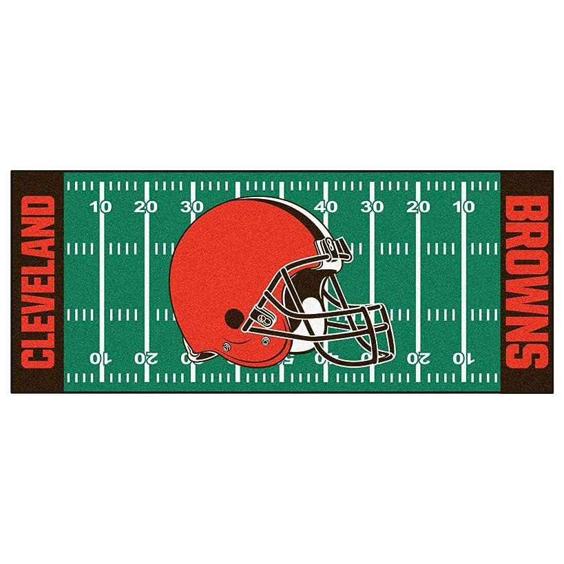 FANMATS NFL Cleveland Browns Nylon Face Football Field Runner