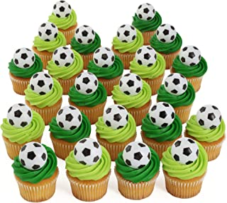 Bakery Crafts Soccer 24 Cupcake Topper Rings