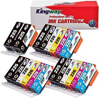 Kingway Compatible Ink Cartridge Replacement PGI-225 CLI-226 PIXMA MG6120 MG8120 MG6220 MG8220 MG8120B IX6520 MG5320 MG5220 MX882 MX892 IP4920 MG5120 MG5210 Printer 20 Pack(3 Sets + 2 PGBK)