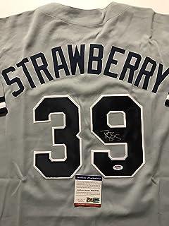 sports shoes 60889 15d50 Amazon.com: darryl strawberry baseball jersey