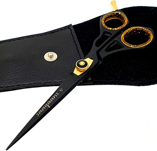 Saaqaans SQR-01 Professional Hairdressing Scissor - Perfect for Hair Salon/Barber/Hairdresser and Home use to Trim yo...