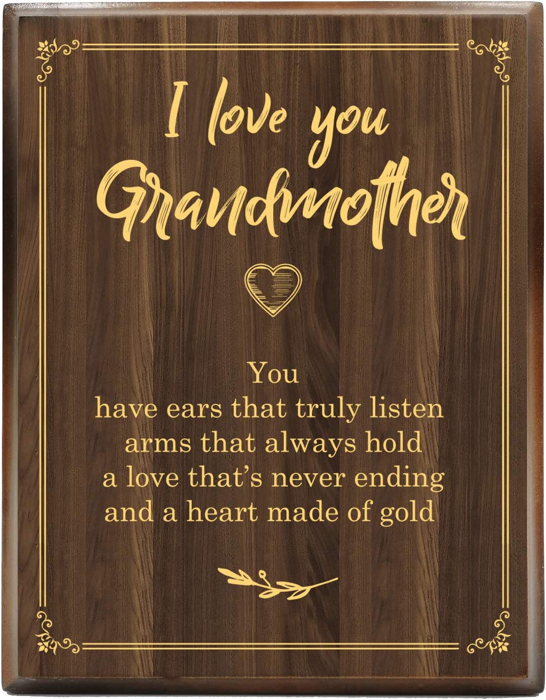 Yuzi-n Best Grandma Gift from Wo Sales results No. 1 Grandson Engraved Gold Max 40% OFF