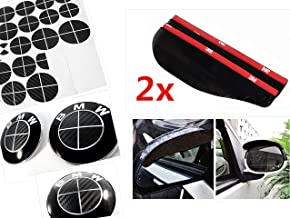 ALL BLACK Carbon Fiber Sticker Overlay Vinyl for All BMW Emblems Caps Logos Roundels