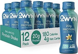 OWYN - 100% Vegan Plant-Based Protein Shakes | Vanilla, 12 Fl Oz (Pack of 12) | Dairy-Free, Gluten-Free, Soy-Free, Tree Nu...
