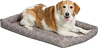 MidWest Homes for Pets 40236-MRD Quiet Time Couture Ashton Bolster Pet Bed, Intermediate Dog/36, Mushroom