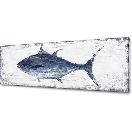 Amazon Com Wall26 3 Piece Canvas Wall Art Bluefin Tuna Thunnus Thynnus Saltwater Fish In Mediterranean Modern Home Art Stretched And Framed Ready To Hang 16 X24 X3 Panels Posters Prints