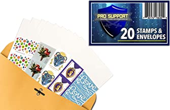 20 Forever Stamps, Postage Stamps with 20#10 White envelopes - Stamp Design May Vary