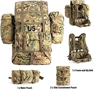 Akmax.cn US Multicam Military Molle II Rucksack Backpack Large with Frame Straps Pouches