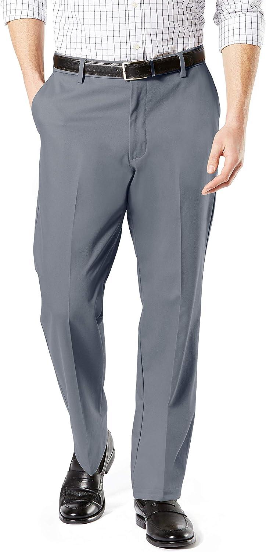 Dockers Men's Classic Fit Signature Khaki Lux Cotton Stretch Pants at  Men's Clothing store
