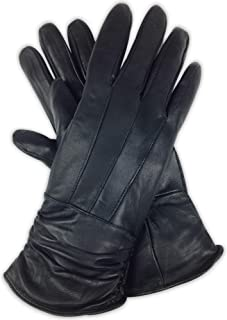 Luxury Soft Women's Black Genuine Sheepskin Leather 3M Thinsulate Winter Gloves