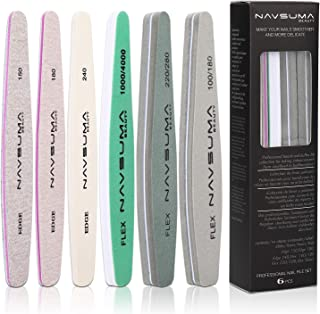 NAVSUMA Nail File Set for Women Nail File Polisher Nail Files and Buffers for Acrylic Emery Boards File (150/180/240 grit)