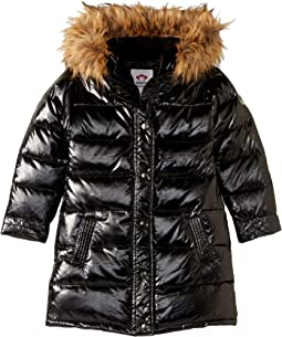 Long Down Coat with Faux Fur Hood (Toddler/Little Kids/Big Kids)