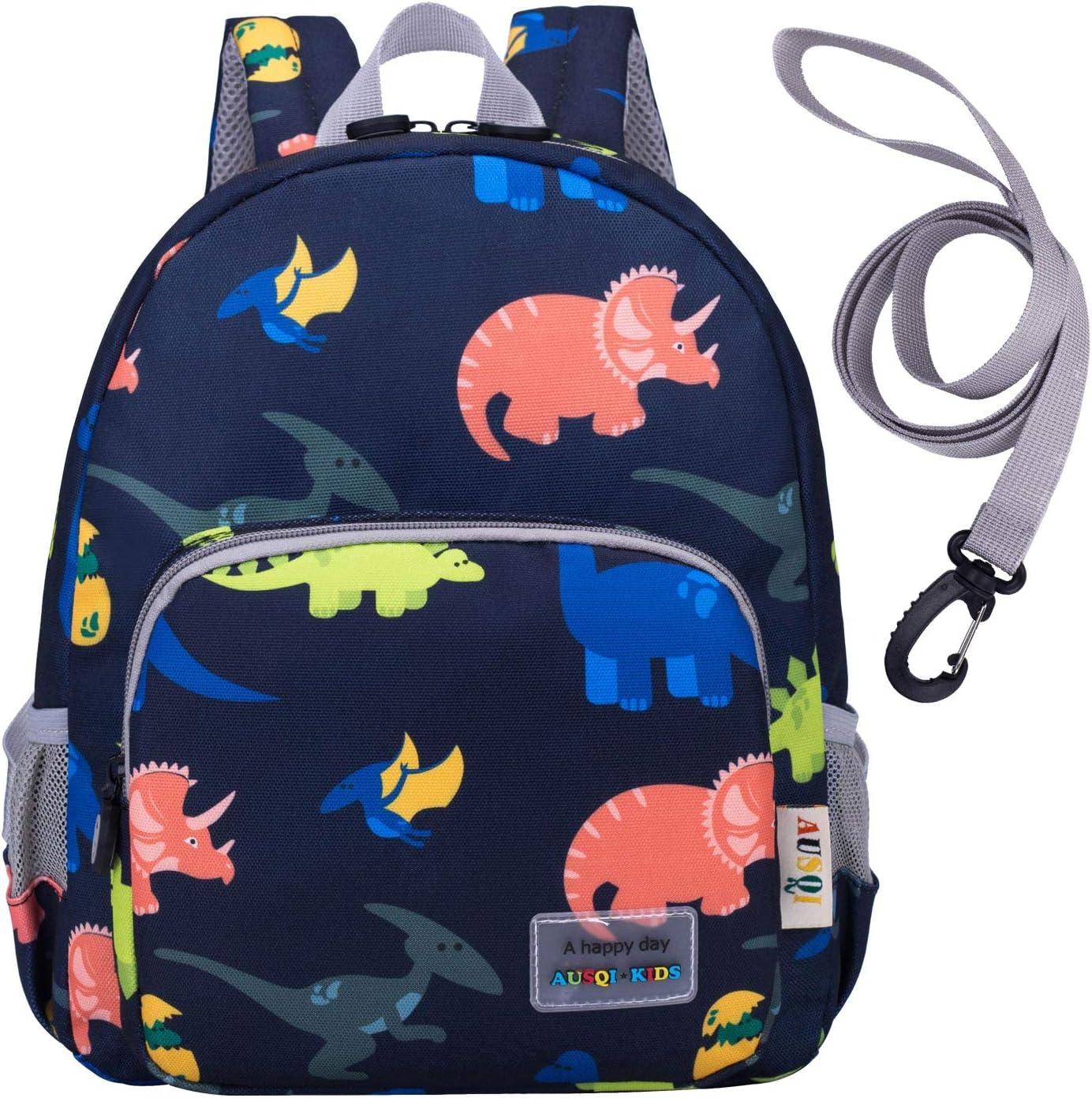 willikiva 3D Dinosaur Backpack Toddler Backpacks for Boys and Girls Kids Backpack Waterproof Preschool Safety Harness Leash (Deep Blue)