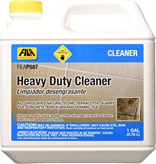 FILA PS87 Heavy Duty Cleaner, Degreaser Cleaner, Removes Wax and Stubborn Stains, Ideal for Ceramic Tiles and Unpolished Natural Stone, 1 Gallon