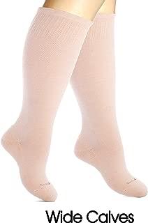 SocksLane Cotton Compression Socks Women. Support Stockings. Knee-High, 1 pair