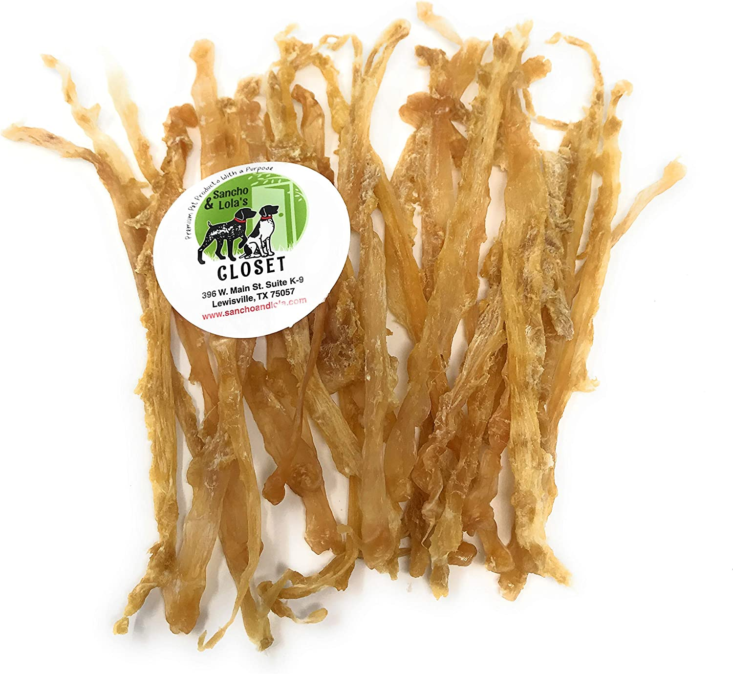 Sancho & Lola's Tendons for Dogs  Beef or Turkey  Made in USA Naturally GrainFree RawhideFree Chews Dogs