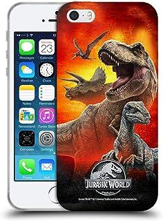 Officiële Jurassic World Dinosaurussen Sleutelkunst Soft Gel Case Compatibel voor Apple iPhone 5 / iPhone 5s / iPhone SE 2016