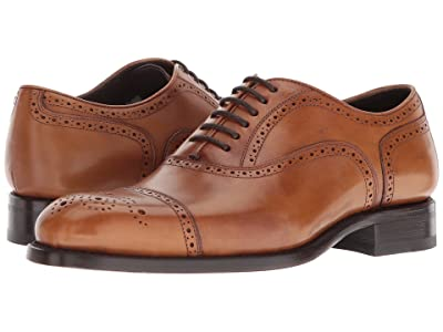 CARLOS by Carlos Santana District (Tan Full Grain Box Calf) Men