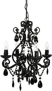 black swag chandelier