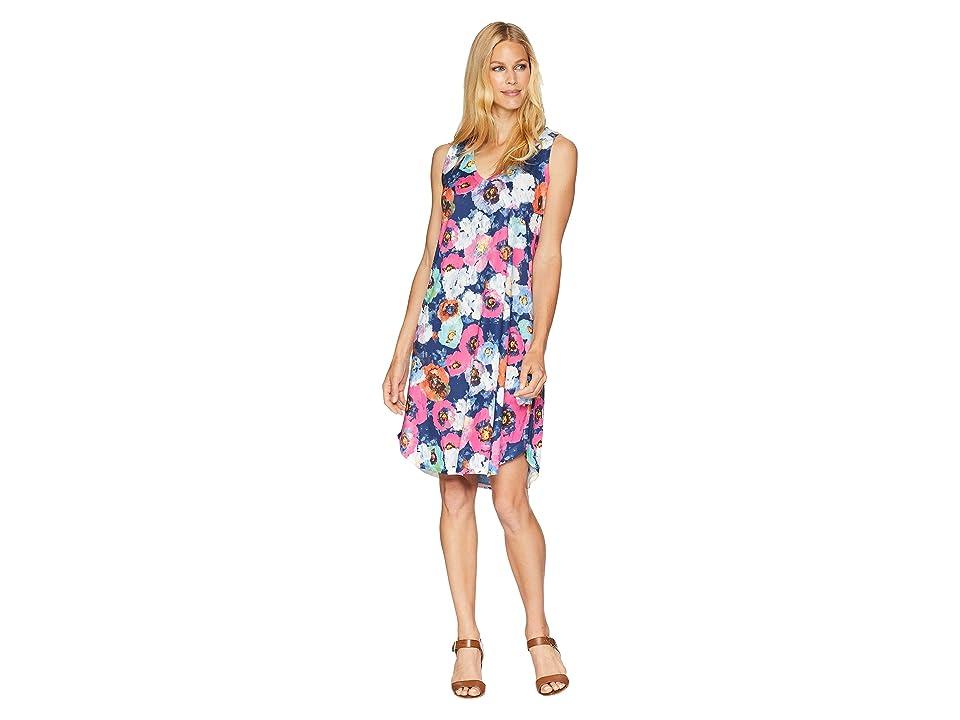 Nally & Millie Sleeveless Fuchsia Poppy Print Dress (Multi) Women