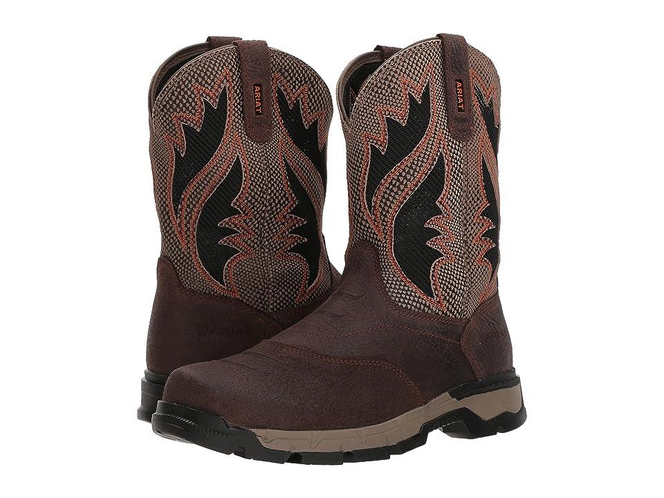 Ariat Rebar Flex Western Venttek (Chocolate/Brown/Textured Tan) Cowboy Boots